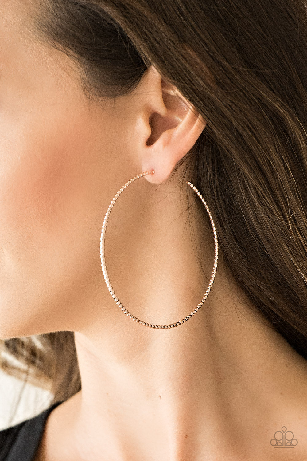 Paparazzi Hooked On Hoops - Rose Gold