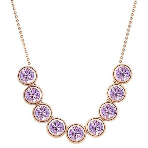 18K Gold-Plated Linear Crystals Necklace - StyleBest Australia