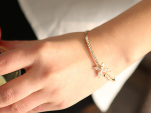 18K Rose Gold-plated Butterfly of Love Bangle - StyleBest Australia