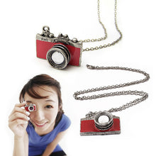 Camera chain necklace (red/black) - StyleBest Australia