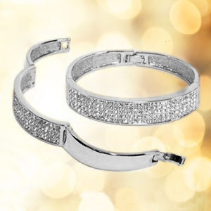 Classic Crystals Silver Pave Bangle - StyleBest Australia