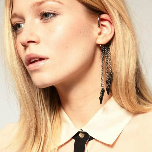 Hanging Dangle Spikes Ear Cuff