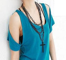 Cross pendant multiple chained necklace - StyleBest Australia