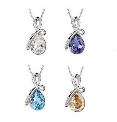 Crystal Water Drop necklace - StyleBest Australia