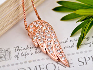 Cubic Zirconia Angelic Wing Necklace - StyleBest Australia