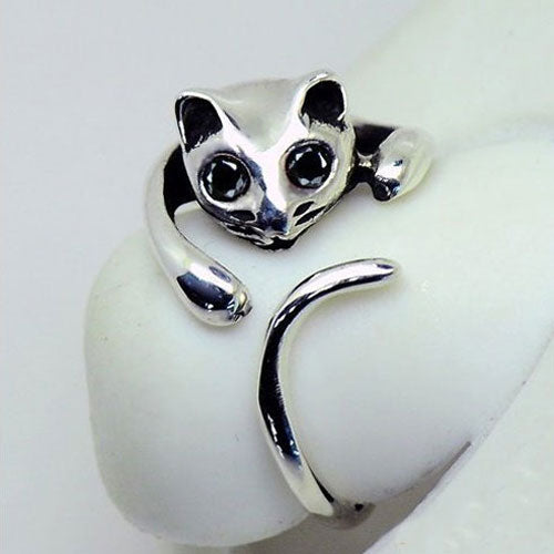 Huggable cat fashion ring- resizable - StyleBest Australia