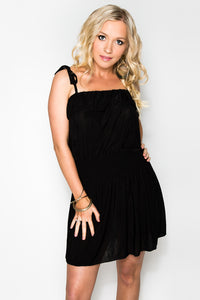 "Ruffle Dress ""Mode Black"" - StyleBest Australia"