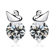 Swan Moonlight Solitaire Stud Earrings - StyleBest Australia