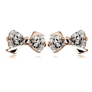 Trilliant Crystals Bow Stud Earrings - StyleBest Australia