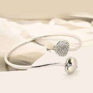 Twisted double hearts bangle bracelet - StyleBest Australia