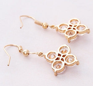 Romantic Four Circle Harmony Drop Earrings - StyleBest Australia