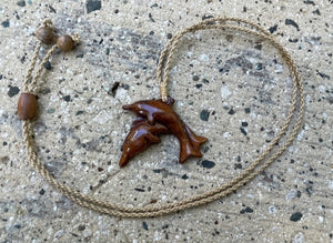 Two Dolphins Necklace