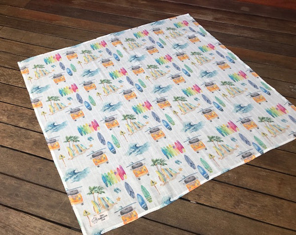 Swaddle Muslin Blanket - VW yellow