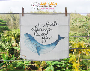 Lovey - ALWAYS WHALE (Kuscheltuch)