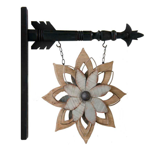 Wood Flower Hanger