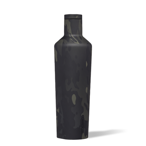 Black Camo Canteen 25oz