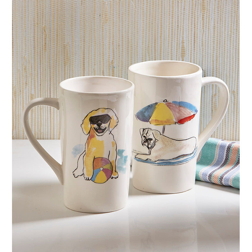 Beach Face Dog Mug