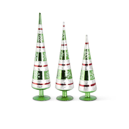 Green Glass Tabletop Cone