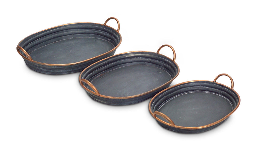 Oval Metal Tray