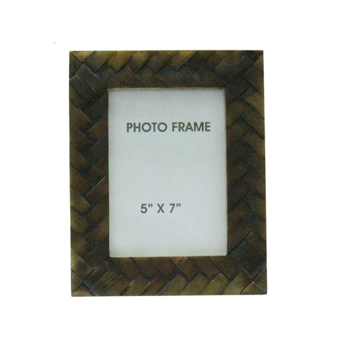 Criss-Cross Brown Frame