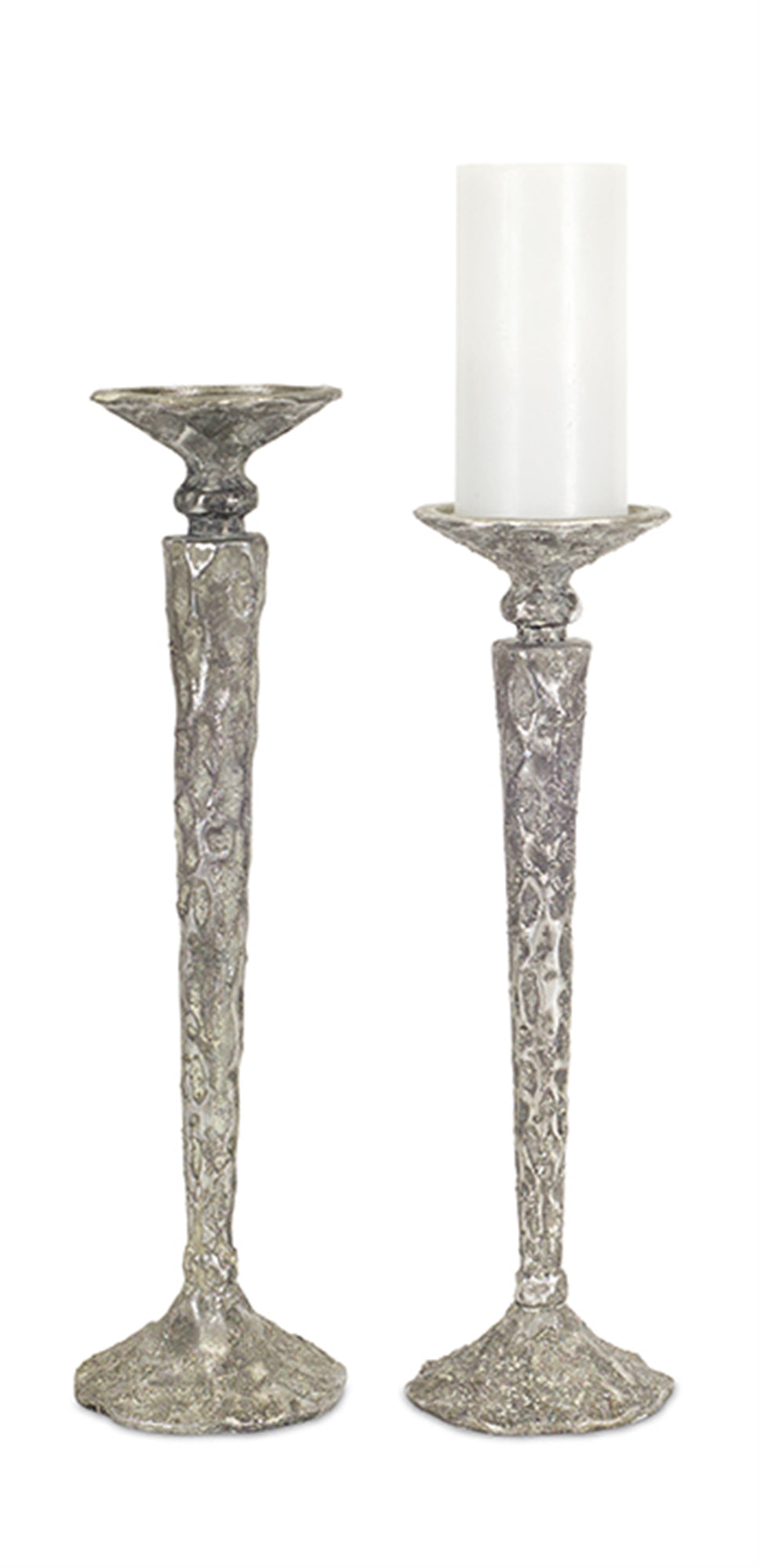 Tall Silver Candle Sticks