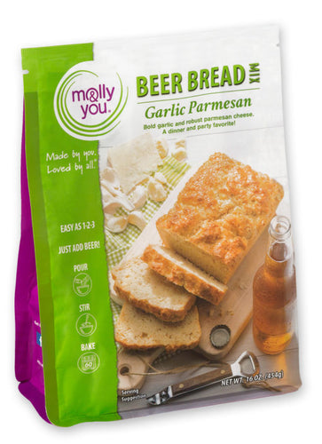 Garlic Parm Beer Bread