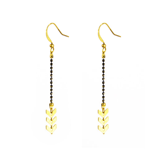 Chevron Chain Earring