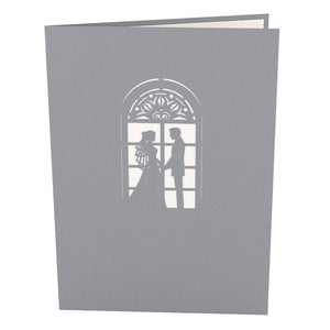Chapel Wedding Card