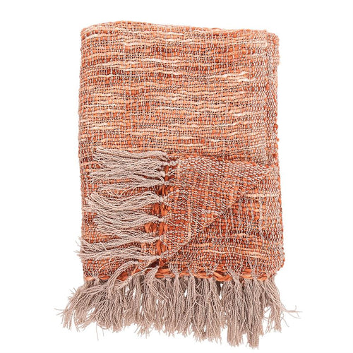 Orange Knit Throw