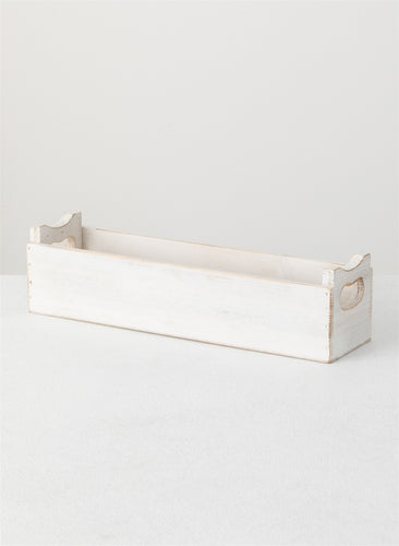 White Wood Container