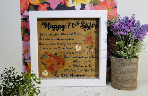 Sister Birthday Box frame