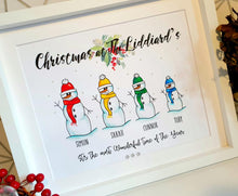 Load image into Gallery viewer, Snowman Family Personalised