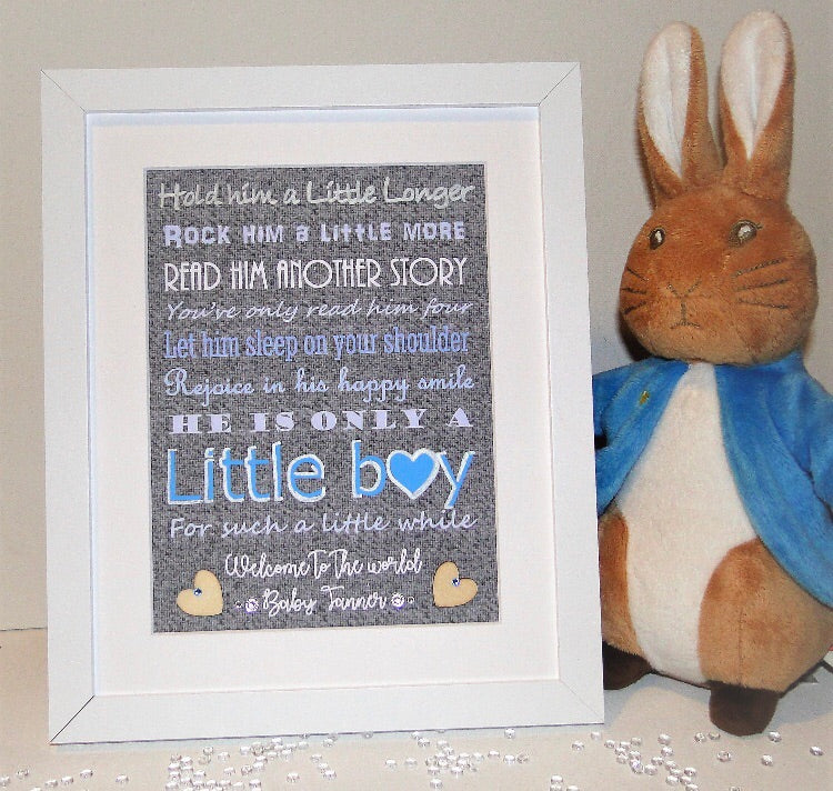 Baby Boy- Hold him a little Longer PERSONALISED