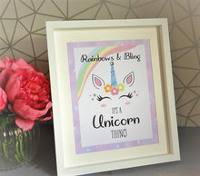 Load image into Gallery viewer, Rainbows & Bling, It's a Unicorn Thing