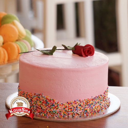 Flamingo Strawberry Cake