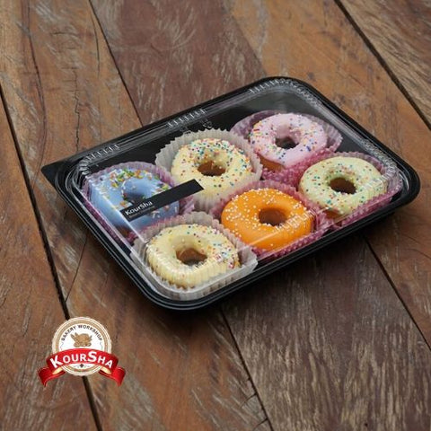 Doughnuts Mini mixed plate of 6 Pcs