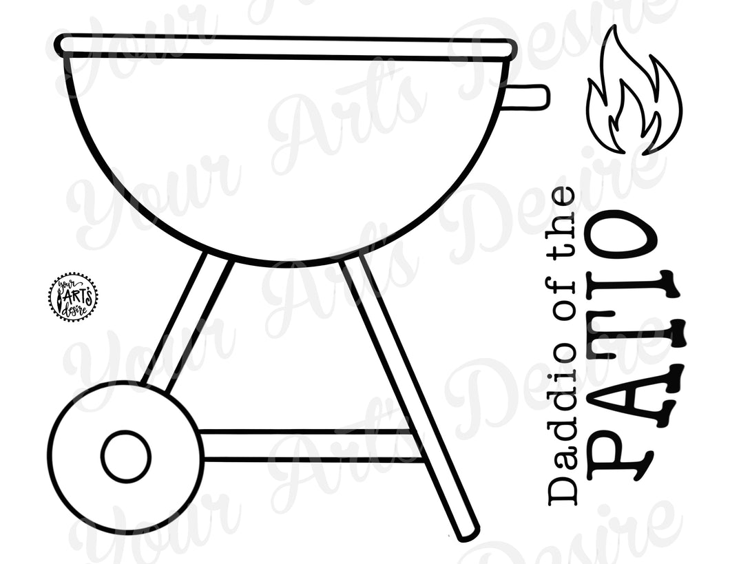 Coloring Book Grill - Daddio of the Patio