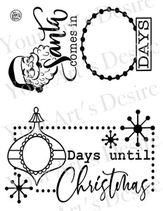 Retro Christmas Countdown