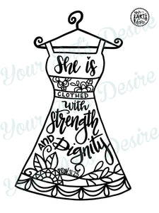 Strength & Dignity Dress