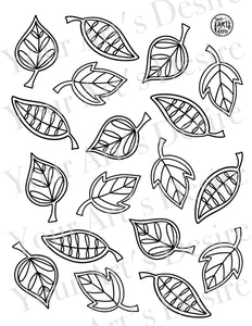 Whimsy Leaves Repeating Pattern