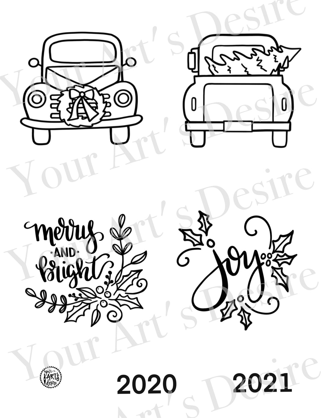 Front/Back Flat Ornaments