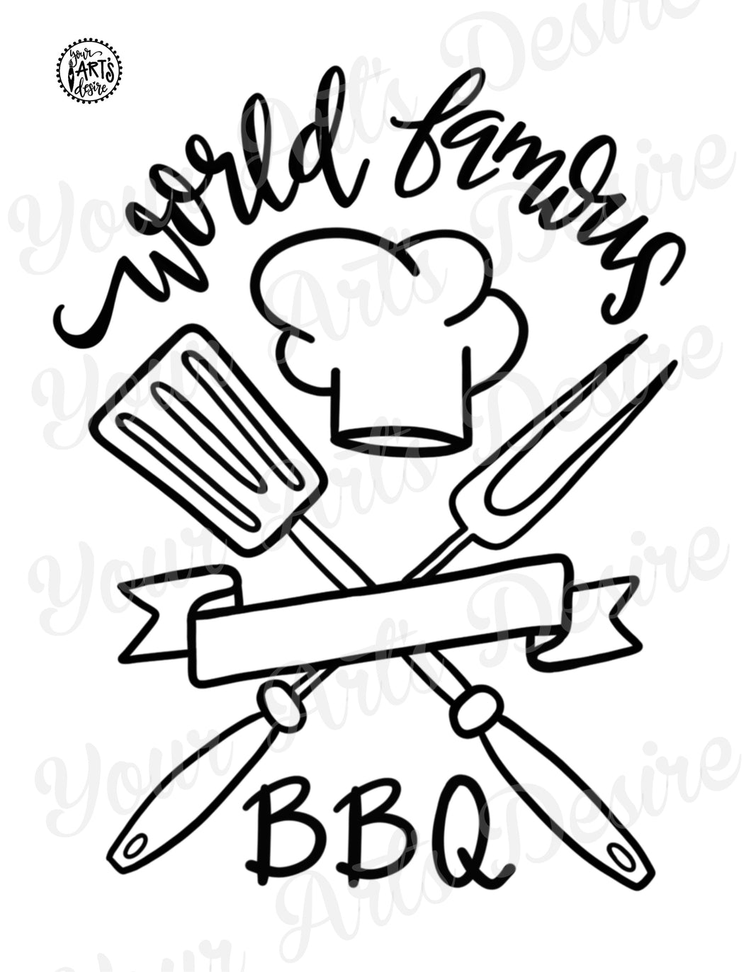 Coloring Book - World Famous BBQ