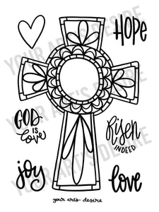 Coloring Book Cross
