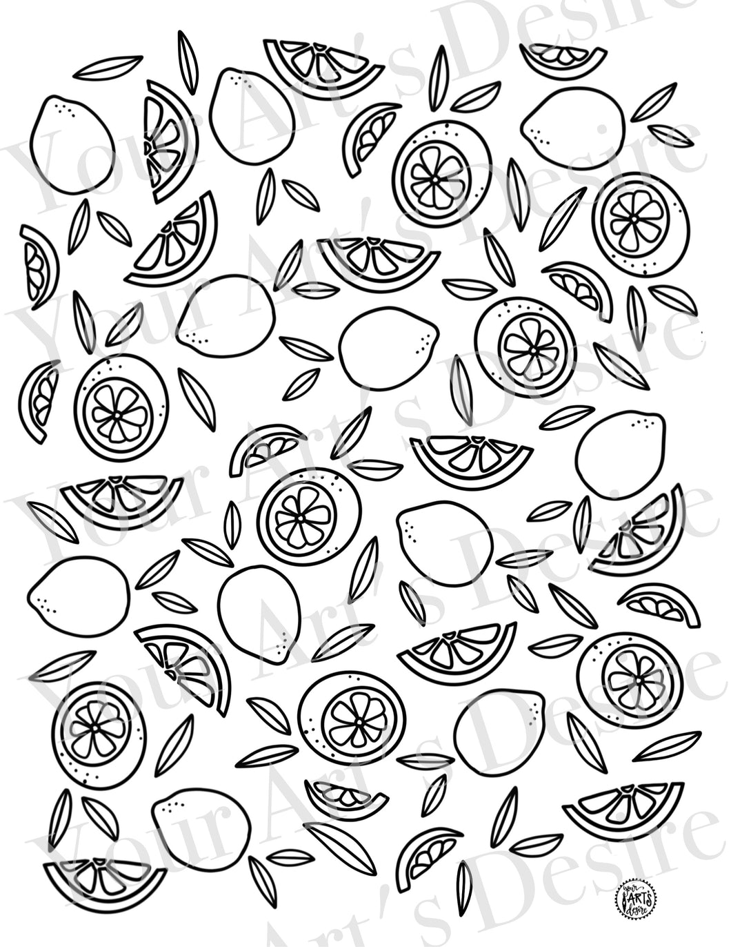 Lemons Repeat Pattern