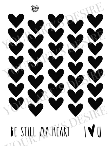 Be Still My Heart Repeat Pattern