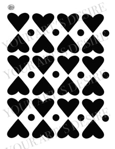 Hearts and Dots Repeat Pattern