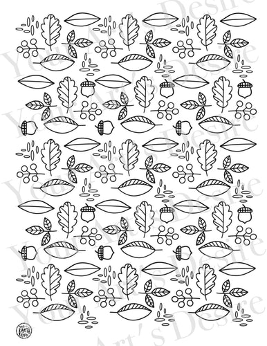 Acorns & Leaves Pattern