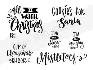 Holiday Sayings Silkscreen
