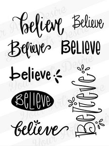 Believe Silkscreen - Set A