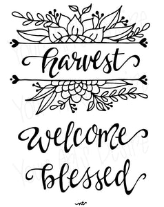 Harvest-Blessed-Welcome Fall Silkscreen